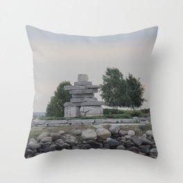 Inukshuk Throw Pillow
