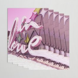 "Pink ""In Love"" Sign at the Neon Museum in Las Vegas, Nevada Wrapping Paper"