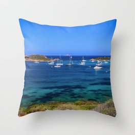 Panorama on paradise, Capo Coda Cavallo, Sardinia Throw Pillow