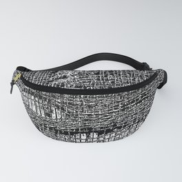 Old Fabric Fibers-Distressed-Torn Cloth-Ripped Fanny Pack