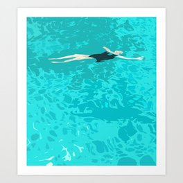 Ophelia Forgot Her Snorkel Again Art Print