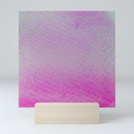 Gradient watercolor - magenta Mini Art Print