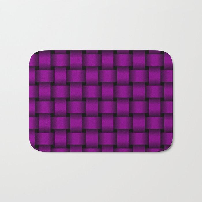 Purple Violet Weave Bath Mat