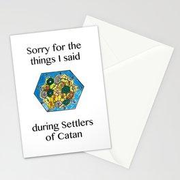 Catan, Settlers of Catan, Board Game, Geek Art, Nerd Art Stationery Cards