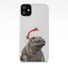 Christmas Baby Hippo iPhone Case