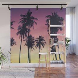Palmtrees Sunset Wall Mural