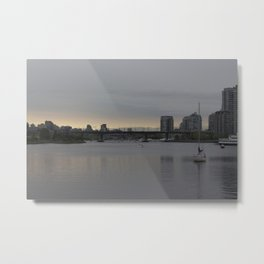 View from Science World on a cloudy afternoon Metal Print