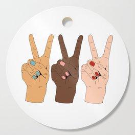 Peace Hands Cutting Board