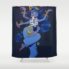 Kali Bharatanatyam Shower Curtain