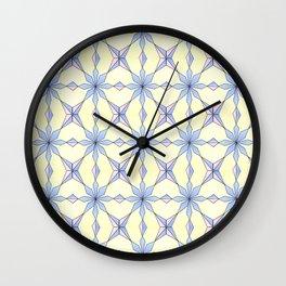 symetric patterns 19 -mandala,geometric,rosace,harmony,star,symmetry Wall Clock