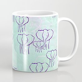 Pastel Elephants Coffee Mug