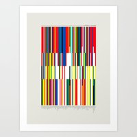 the national Art Prints featuring National Colors by Tom Davie