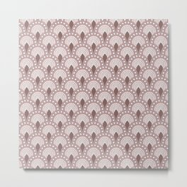 Mosaic - Parisian Tiles – Rose Metal Print
