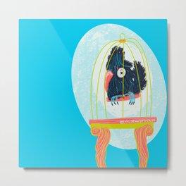 Caged Bird _ Modart  Metal Print