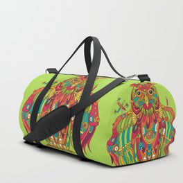 Owl, cool art from the AlphaPod Collection Duffle Bag