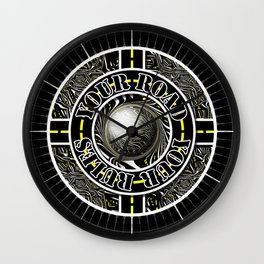 Travel Lover's Motto of Your Road, Your Rules Wall Clock