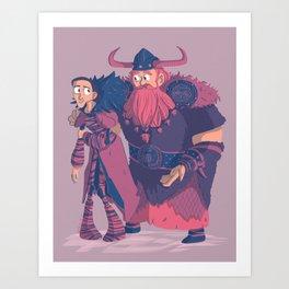 Valka&Stoick Art Print