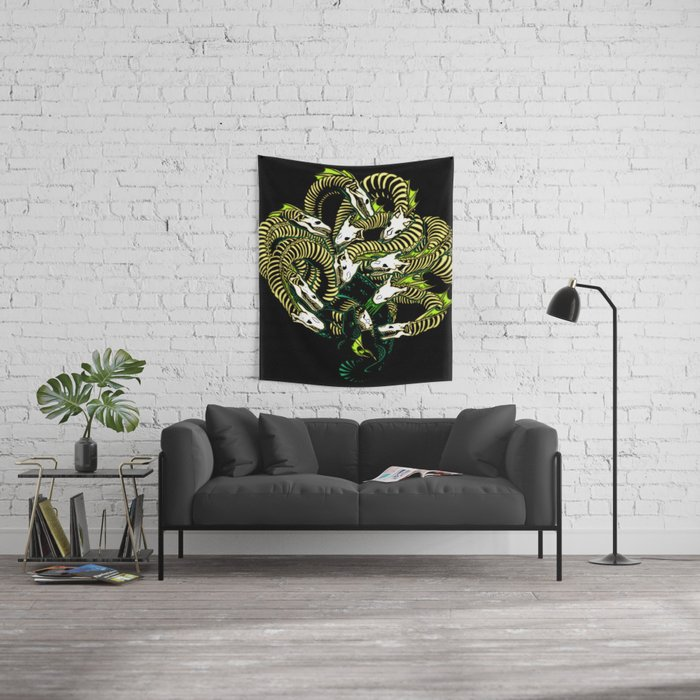 Lonely Hydra Wall Tapestry