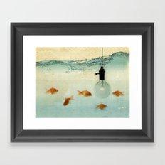 Fishing for ideas Framed Art Print