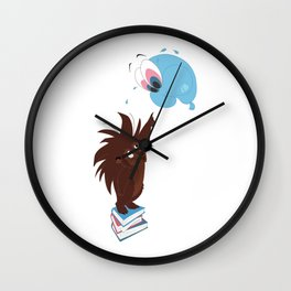 Porcupine and Balloon Wall Clock