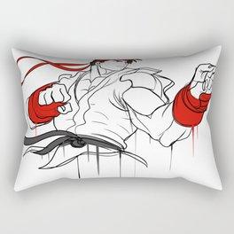 street fighter ryu character  fan art by me Rectangular Pillow