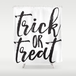 Trick or Treat (black) Shower Curtain
