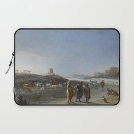 An Italianate Landscape with an unidentified subject from the Old Testament, Cornelis van Poelenburc Laptop Sleeve