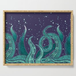 Giant Tentacle Blue Redux Serving Tray
