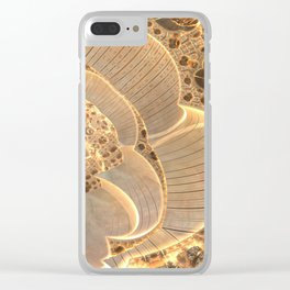 Golden Flower Field Clear iPhone Case