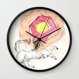 Greeter of the Sun Wall Clock