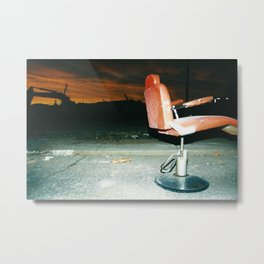 LaPlata Tornado- Red Chair Metal Print