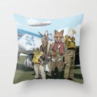 starfox Throw Pillows featuring SKYFOX (The Starfox Prequel). by John Medbury (LAZY J Studios)