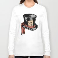 mad hatter Long Sleeve T-shirts featuring Mad Hatter by Countmoopula