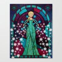 frozen elsa Canvas Prints featuring Elsa Frozen by JAPdesign
