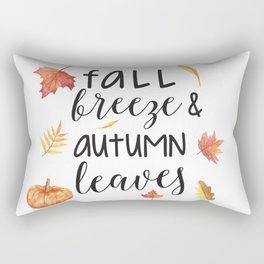 Fall breeze, autumn leaves Rectangular Pillow
