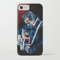 johnny cash iPhone & iPod Cases featuring Johnny Cash by Nicole Kallenberg
