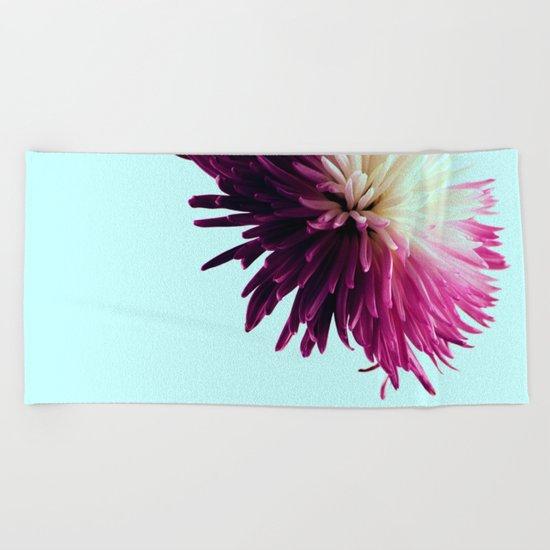 One Flower Beach Towel
