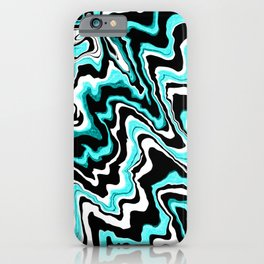 Blue liquified,marble effect decor iPhone Case