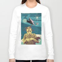 chicken Long Sleeve T-shirts featuring Chicken by Julia Lillard Art