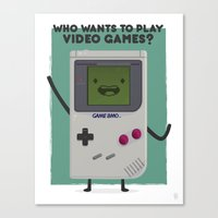 beemo Canvas Prints featuring Game Beemo (BMO) by Sour Pickle