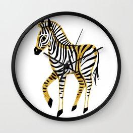 Gold Zebra Wall Clock