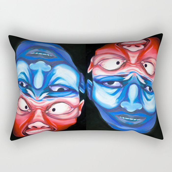 dualism Rectangular Pillow