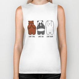 Three Wise Bears - Hear No Evil, See No Evil, Speak No Evil Biker Tank