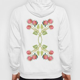 Embroidered Scandi Flowers Hoody