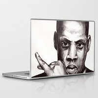 jay z Laptop & iPad Skins featuring Jay by Daniel Hughes