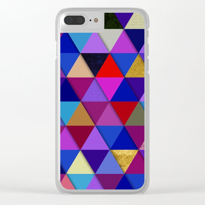 Abstract #276 Clear iPhone Case