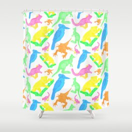 Beautiful Bright Australian Native Animals Shower Curtain