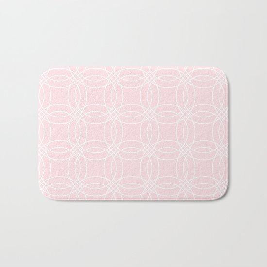 Simply Vintage Link White on Pink Flamingo Bath Mat