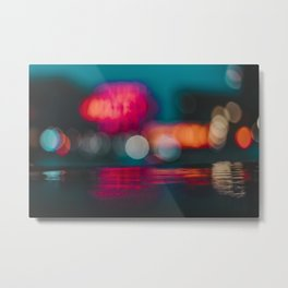 Rainy Seattle Market Metal Print