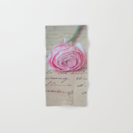 Love Letter With Ranunculus Hand & Bath Towel